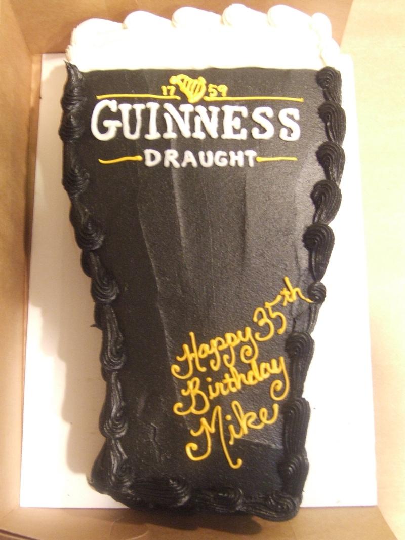 Beer Glass Birthday Cake