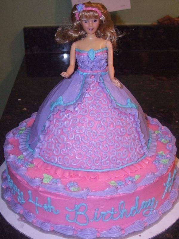 Doll Princess Cake - Birthday cake doll princess