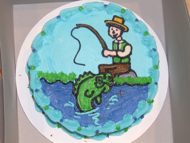 Swell Fishing Fisherman Cake Funny Birthday Cards Online Alyptdamsfinfo