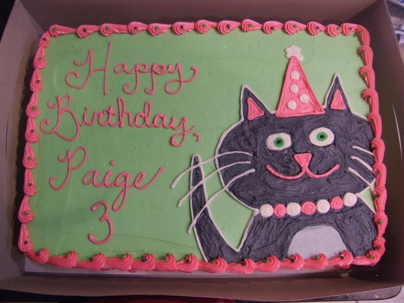 kitty cat birthday cakes