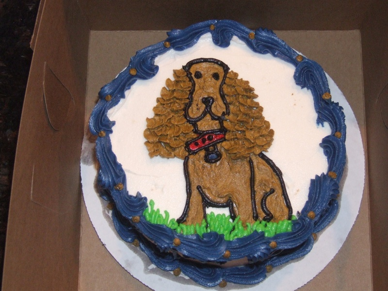 Dog Cocker Spaniel Cake