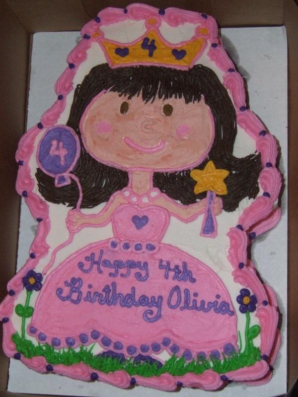 Princess Cutout Cake