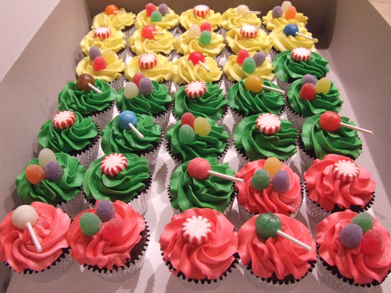 Candy Themed Cupcakes